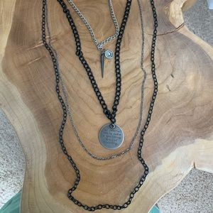 4 strand chain and gothic style pendants